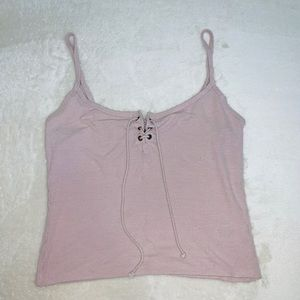 Womens lace up tank top size small